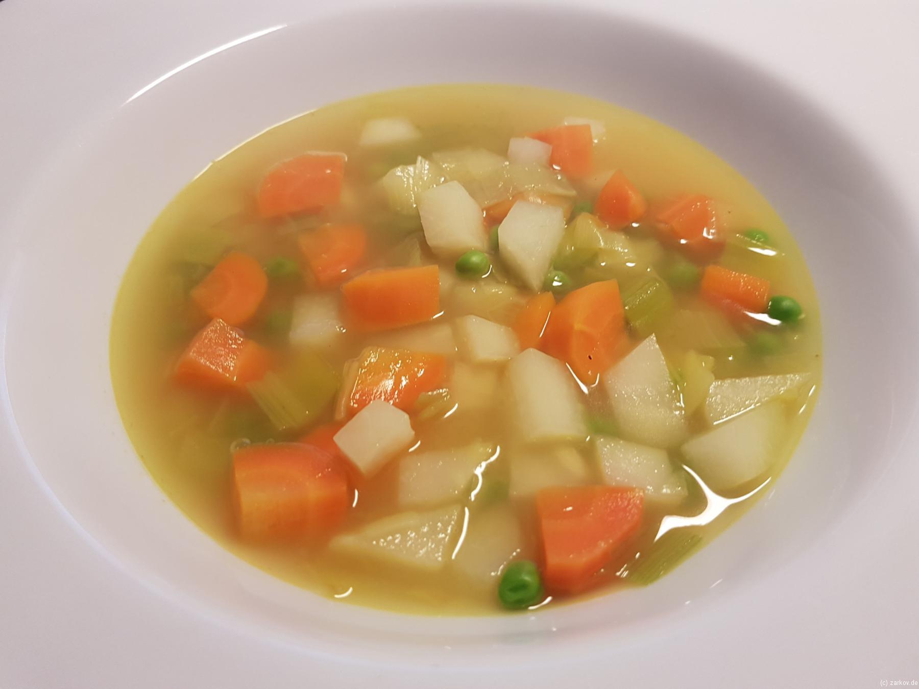 Schnelle Gemüsesuppe - lecker Essen