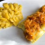 Geschmälzte Maultaschen mit Kartoffelsalat